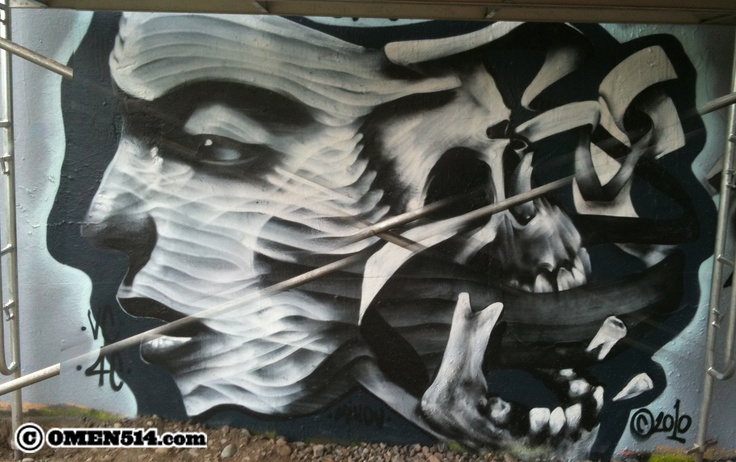"""This is a piece I did for the Ottawa event """" house of paint"""" in 2011..."""