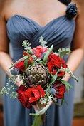 Carry flowers from vegetables for a quirky but seasonal twist! As seen on BridesMagazine.co.uk (BridesMagazine.co.uk)
