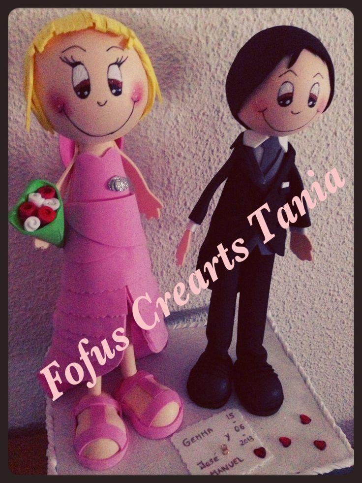 Pareja de novios( el vestido de la novia era rosa en la realidad) hay que ser original!