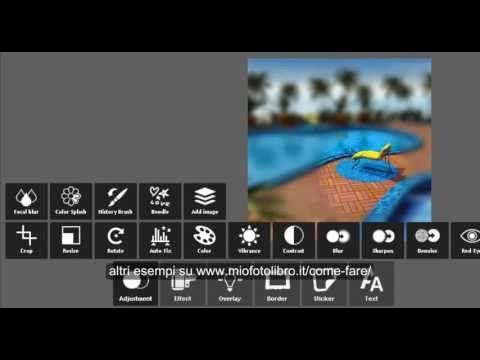 come creare un effetto tilt-shift su http://www.miofotolibro.it/come-fare/ trovi molte altre videoguide
