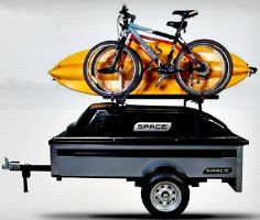 small cargo trailer with bike rack - Google Search