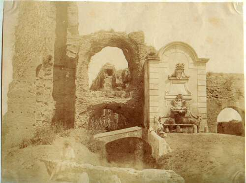 """Rome, """"Furba"""" Gate and the Pope Clemente XII fountain 1850 (ca)"""