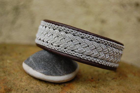 Sami Bracelet  Lapland  Pewter Silver by AuroraSamiJewelry on Etsy, $84.99
