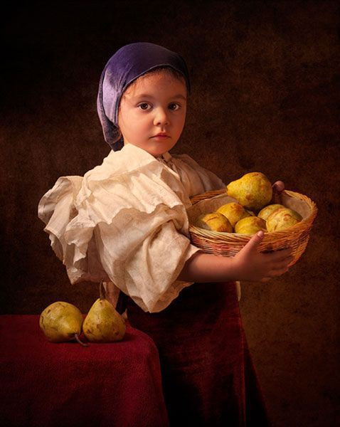 Bill Gekas remake masterpiece (Vermeer and Rembrandt) with complicity of his daughter