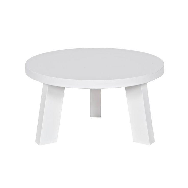 Woood salontafels: Maak van twee witte ronde bijzettafels, één grote salontafel. Verrassend anders. - BRIC.