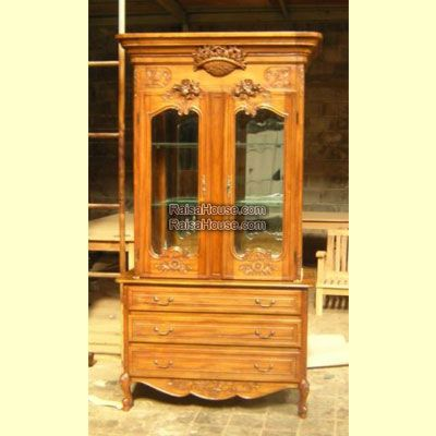 China Cabinet 2 Door Resized & Less Carving with Mirror Refrence : RAR 004 A 1 Gs Dimension : 119 x 57 x 220 cm Material : #WoodenMahogany Finishing : #Custom Buy this #Armoire for your #homeluxury, your #hotelproject, your #apartmentproject, your #officeproject or your #cafeproject with #wholesalefurniture price and 100% #exporterfurniture. This #ChinaCabinet2DoorResized&LessCarvingwithMirror has a #highquality of #AntiqueFurniture #NaturalFurniture #ExporterFurniture #MahoganyFurniture