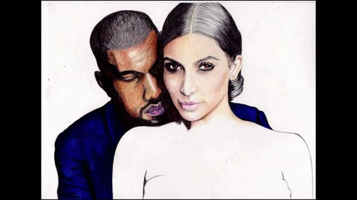 Pen Drawing Of Mr And Mrs West Freehand  Subscribe for more art.   www.youtube.com/demoose21 #KimKardashian #KayneWest