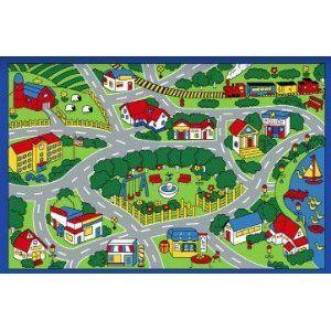 Cute Idea For A Kid S Play Room City Map Rug