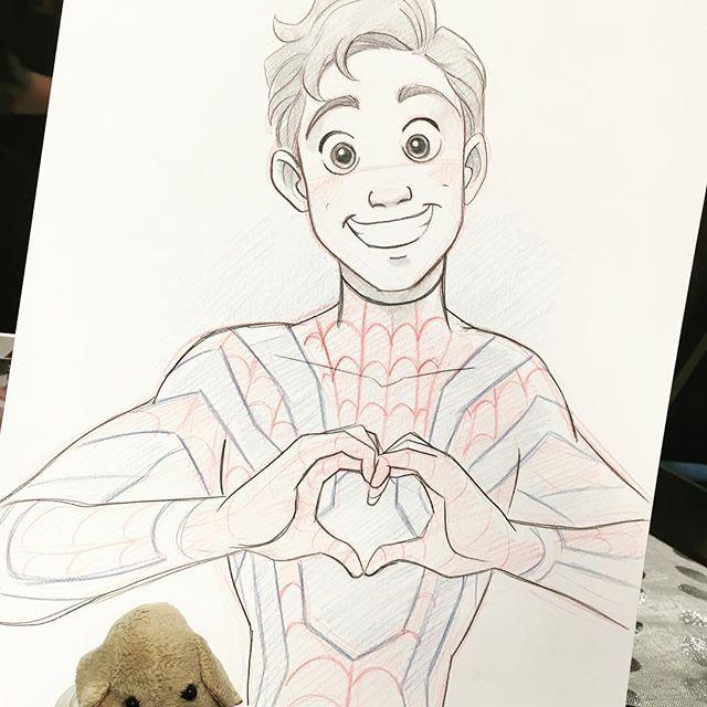 Acecomiccon Spiderman Peterparker Artistalley Infinitywarneverhappened Cartoon Drawings Artist Alley Cute Pokemon