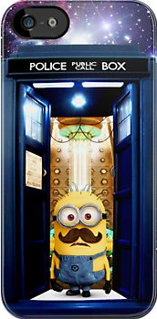 Despicable me minions tardis doctor who apple iphone 5, iphone 4 4s, iPhone 3Gs, iPod Touch 4g case