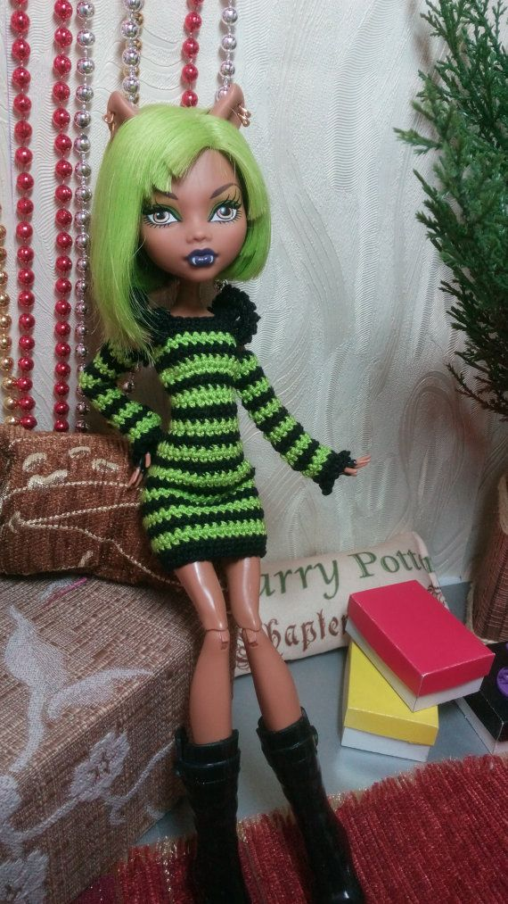 Handmade crochet clothes for Monster High by OdejdaKykle on Etsy