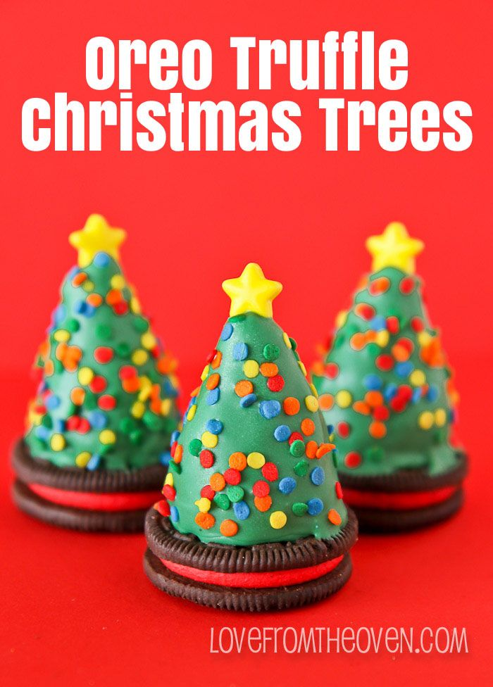 Oreo Truffle Christmas Trees via @Christi | Love From The Oven