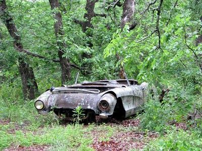 1956 or 1957 Corvette Who would do this to that car :(