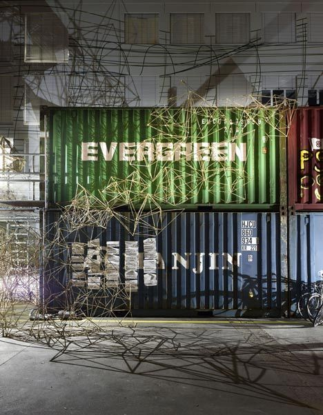When shipping containers meet art  http://www.dezeen.com/2012/07/03/the-commune-by-geneva-university-of-art-and-design-students/