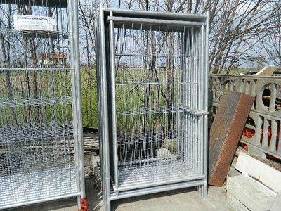 #Porta pedonale zincata da cantiere MT.1,10x2,00  prodotto in Italia  € 60,00 + iva.