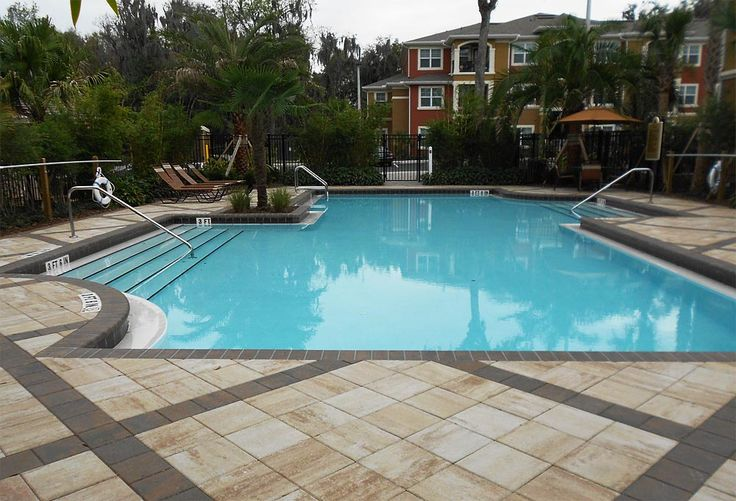 Park plaza 12x12 sand dune and 8x8 coffee pool deck for Florida pool and deck