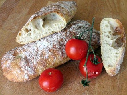Ciabatta met desem / recept / Xandra Bakt Brood