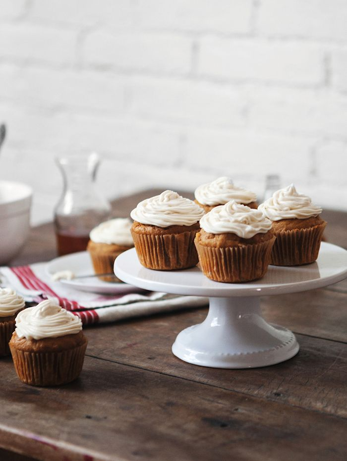 Pumpkin Cupcakes + Maple Bourbon Frosting (Dust Jacket) | Cream ...