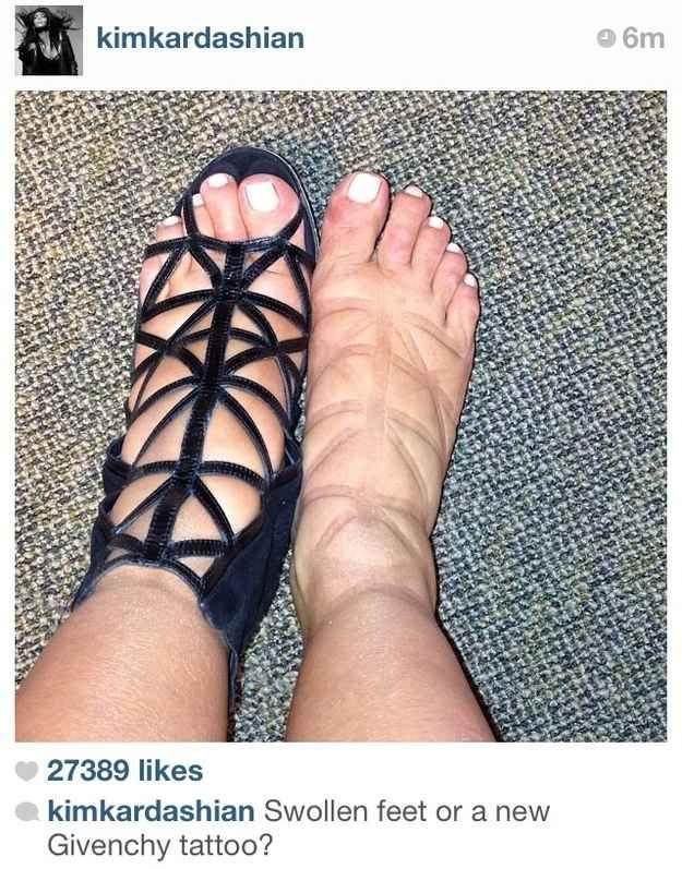 Kim Kardashian's Pregnancy Feet | The Best Celebrity Memes Of 2013