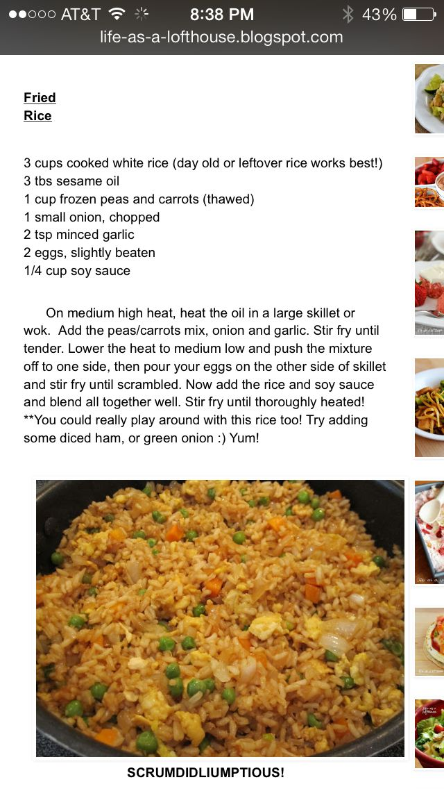 486 best fried rice images on pinterest chinese food cooking food fried rice homemade fried ricefried rice recipespork fried rice easyleftover ccuart Choice Image