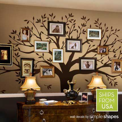 Family Tree Wall Decal. Would love to beable to do this but not sure if I have anbig enough wall.