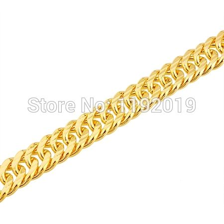 Men snake bone bracelet 18k gold plated imitation gold jewelry 6 mm wide; 8 mm wide; 10 mm wide couple models Christmas gift