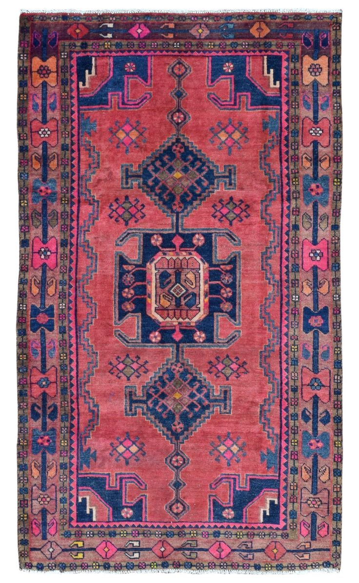 Semi Antique Persian Hamadan Oriental Runner Rug 4u00276X7u002710