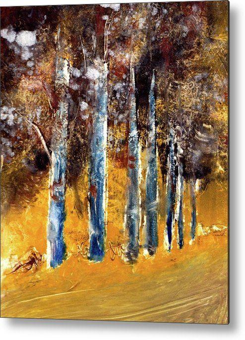 Woods. Simran Sofia Love. Metal print of monotype.