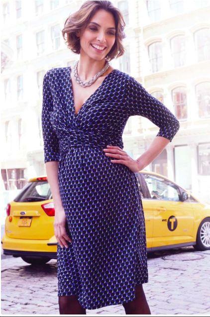 SERAPHINE KELLY FAUX WRAP MATERNITY NURSING DRESS…