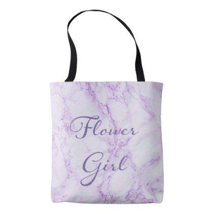 Ultra violet marble for a wedding Flower Girl Tote Bag - glitter glamour brilliance sparkle design idea diy elegant