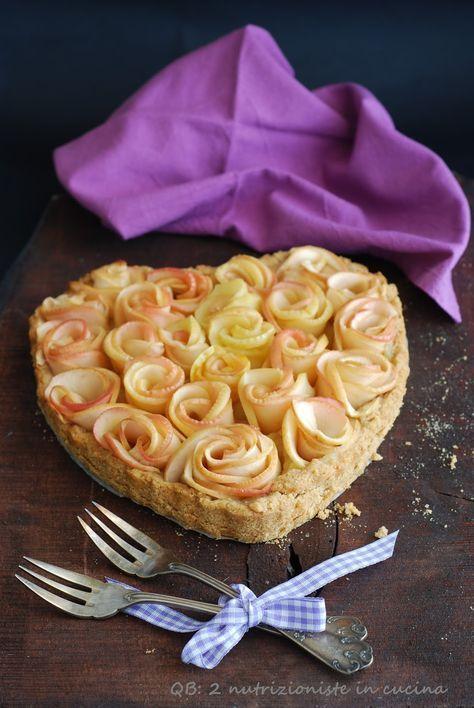 Q B Le ricette light: Crostata di rose di mele