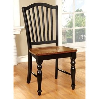 Furniture of America Levole Two-tone Country Style Dining Chair (Set of 2) | Overstock.com Shopping - The Best Deals on Dining Chairs