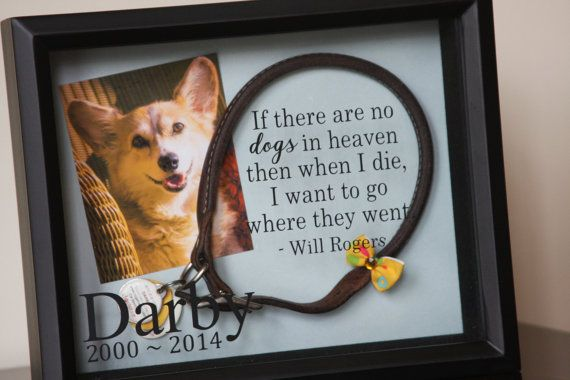 Pet Memorial Shadow Box: Dog Memorial by LittleLostButtonUSA