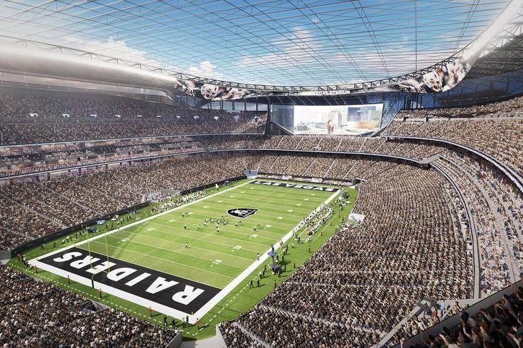 Tempers flare over Las Vegas Raiders Stadium community benefits plan (Richard N. Velotta Las Vegas Review-Journal, 14 September 2017) Shown: A rendering of the Las Vegas Raiders stadium project. (MANICA Architecture)