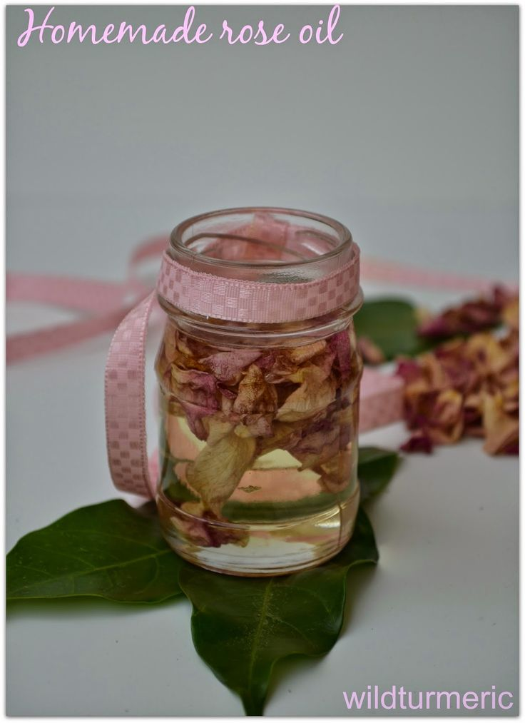 Home made rose oil that is easy to make and has multiple beauty uses. It can be used as a massage oil, moisturizer and for making creams & lotions