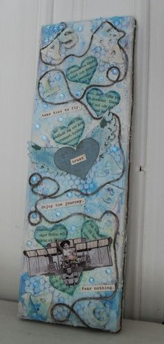 "Altered art & art journaling : ""Take time to fly"" » Fiskarettes FI"