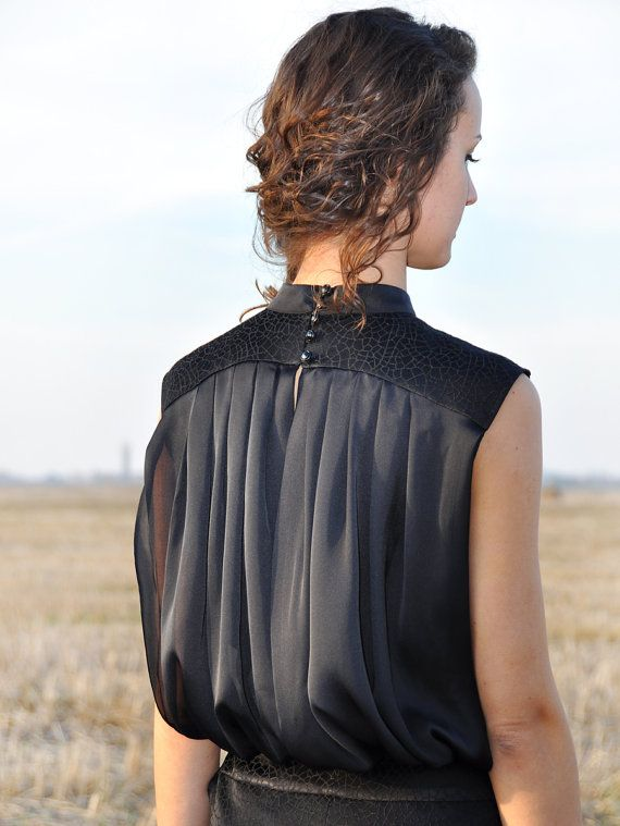 Dress Black Dress Elegant Dress by HannaBoutiqueHB on Etsy, €89.90