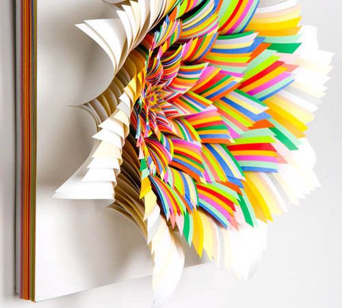 Jen Stark: Colors Paper, Jenstark, Paper Art, Paper Sculpture, Paper Flowers, Paperart, Paper Wall, Cut Paper, A Stark