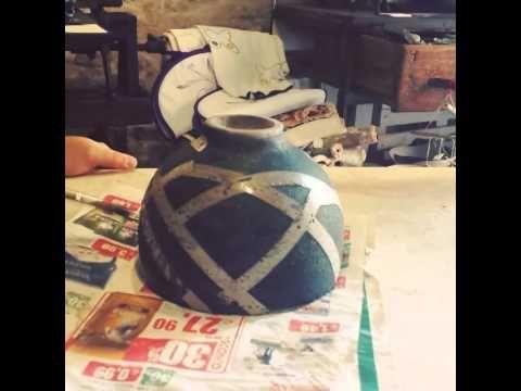 Raku ceramic decoration tape on greenware