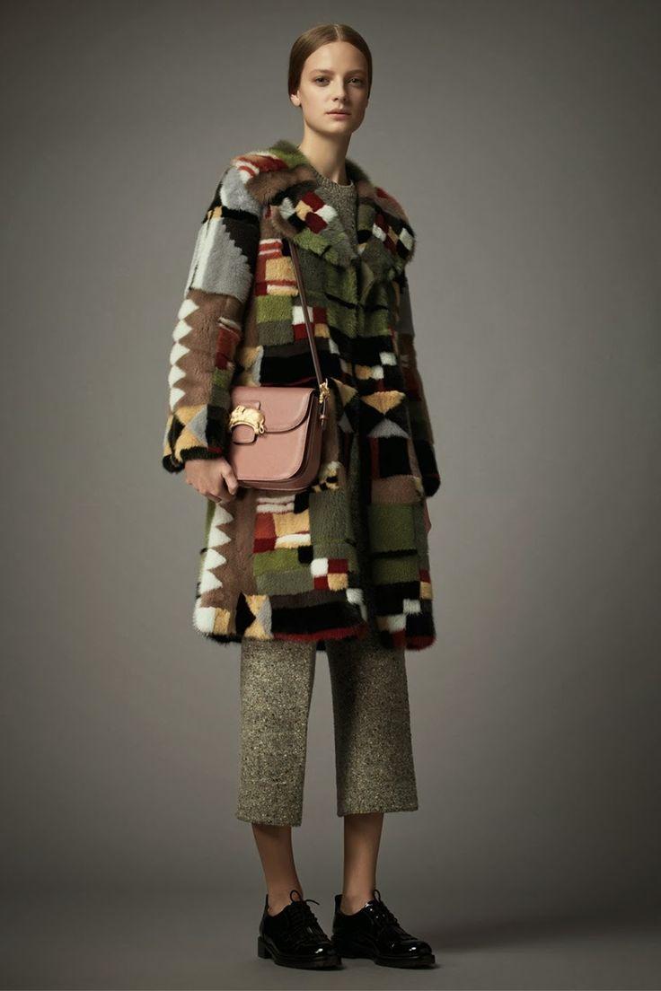 Мастерство мехового дизайна: Интарсия от Валентино в коллекции pre-fall 2014/15