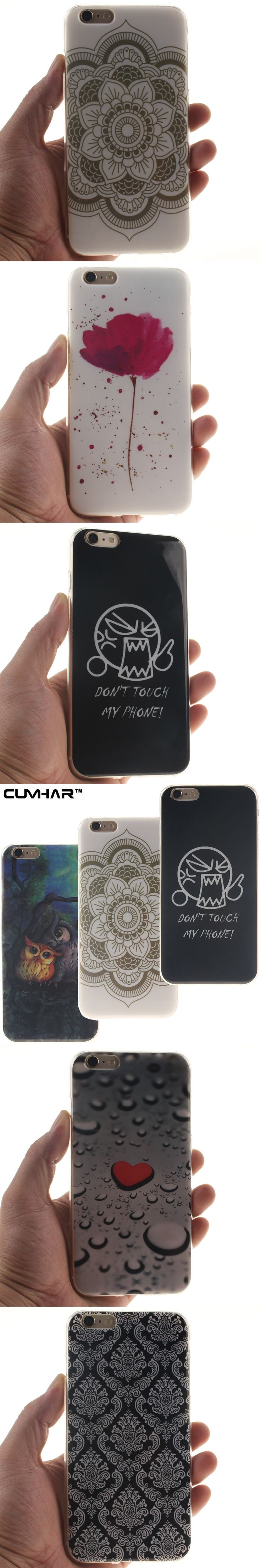 Funny Emoji Totems drop water Love Heart Lion Owl Soft TPU Phone Back Case Cover for iPhone 5S 5 SE 6 6S 7 Plus 7Plus
