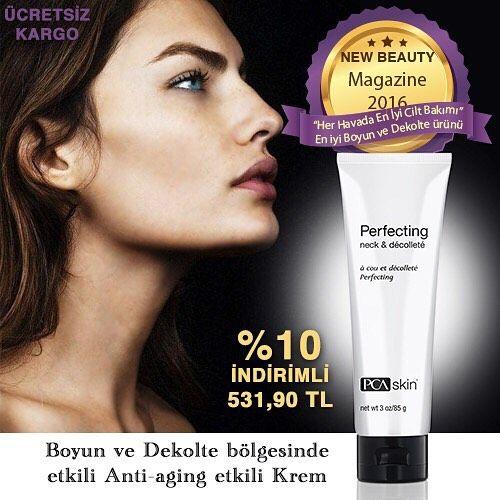 2016 En iyi boyun ve dekolte ürünü ödüllü PCA Skin Perfecting Neck & Decollete her hava koşulunda en iyi bakım ürünü