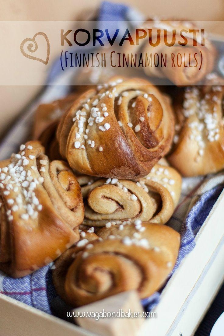 Korvapuusti (Finnish Cinnamon buns) - Vagabond Baker