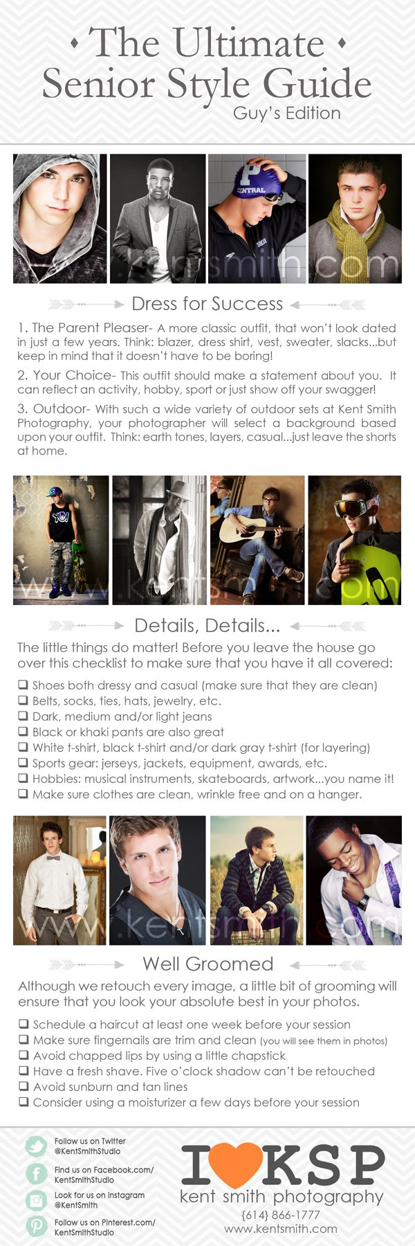 Senior Session/Style Guide  Guys  senior style guide photography session clothing
