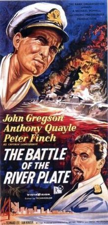 The Battle of the River Plate (1956) GB War D: Michael Powell and Emeric Pressburger. John Gregson, Peter Finch, Anthony Quayle, Christopher Lee. 06/06/04