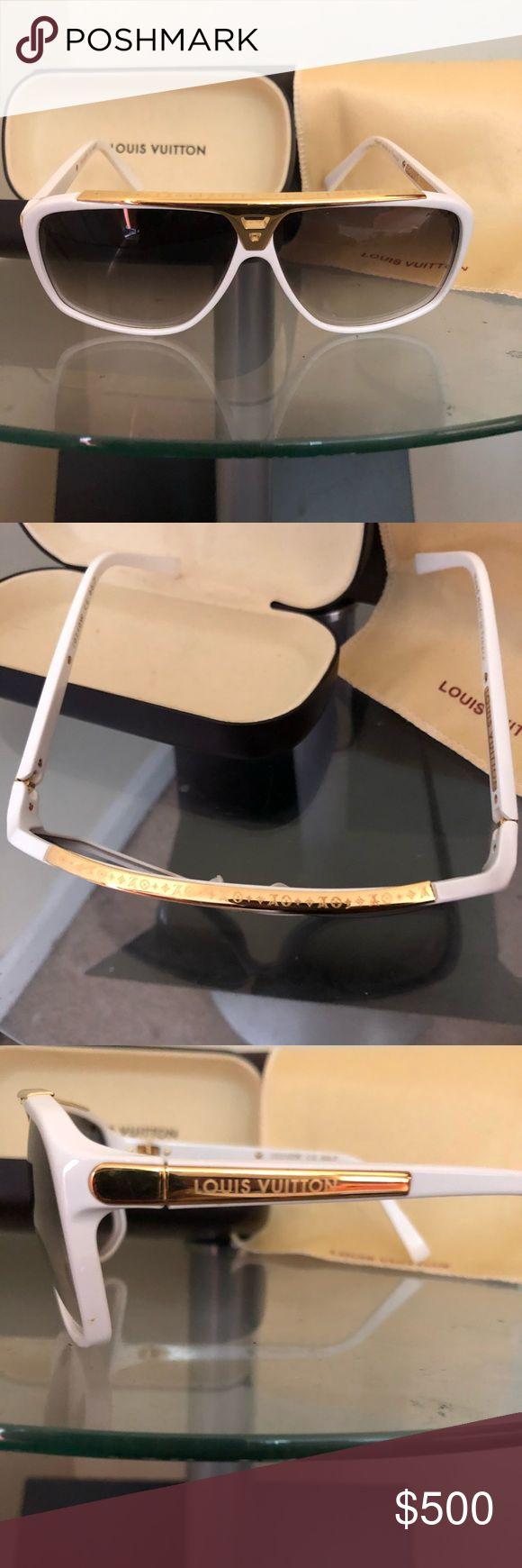 Authentic Louis Vuitton EVIDENCE sunglasses White aviators Accessories Glasses