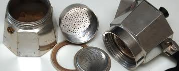 caffettiera moka pulizia caldaia filtro guarnizione colino come pulire
