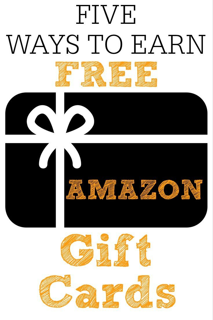 I love these 5 ways to earn FREE Amazon gift cards! With these places I am able to earn $100's of dollars a year in Amazon gift cards.