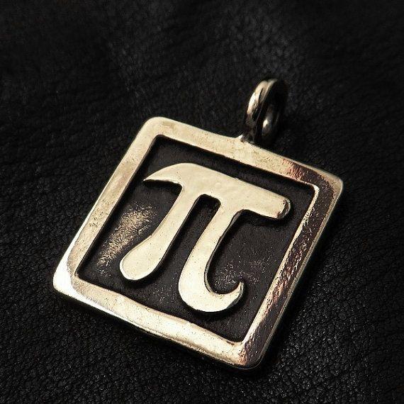 Bronze PI pendant