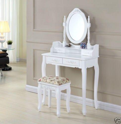 SEA128 - set masa toaleta alb http://www.emobili.ro/cumpara/sea128-set-masa-alba-toaleta-cosmetica-machiaj-oglinda-masuta-290 #eMobili